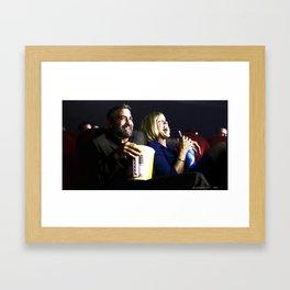 "Frances McDormand and George Clooney @ film ""Burn After Reading"" (Joel & Ethan Coen - 2008) Framed Art Print"