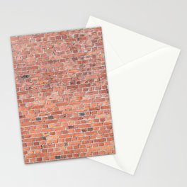 Plain Old Orange Red London Brick Wall Stationery Cards