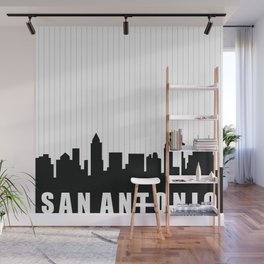 San Antonio Skyline Wall Mural