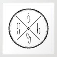 S6 : hipster clip Society6 Art Print