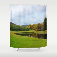 farm Shower Curtains featuring Farm Land by NaturallyJess