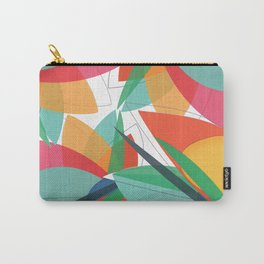 Abstract multicolored tropical flower, bird of paradise, superimposed shapes and transparencies Carry-All Pouch