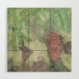 Spruce Cone Wood Wall Art