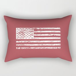 The Flag of the  USA with Rusty Effect II Rectangular Pillow