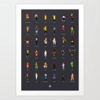 36 Supergirls Art Print