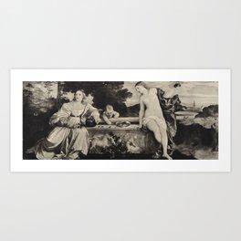 Sacred And Profane Love Art Print