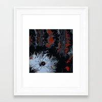 black widow Framed Art Prints featuring widow by Shea33