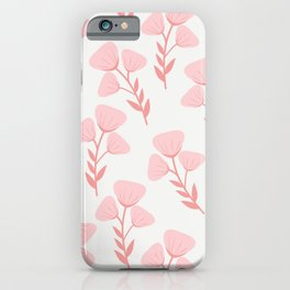 Pink roses print - soft pink palette  iPhone Case
