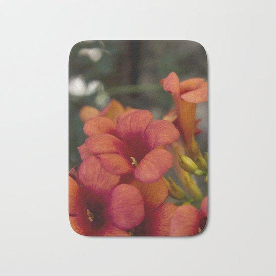 Bignonia Flowers. Photography . Bath Mat