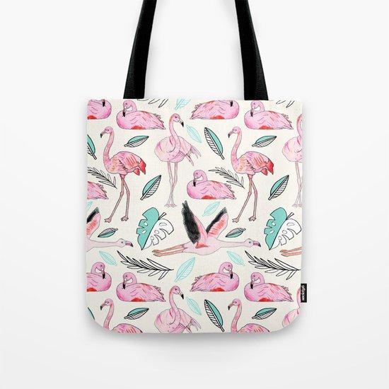 Flamingos Forever Tote Bag