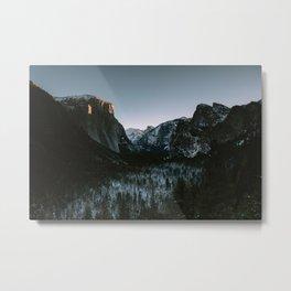 Yosemite Valley Sunrise Metal Print