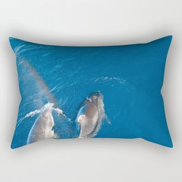 Dolphins with rainbow Rectangular Pillow
