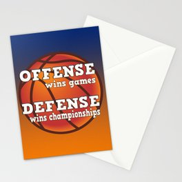 Winning philosophy for team sports Stationery Cards