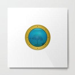 Tree of Life - Sea Life Through Porthole Metal Print