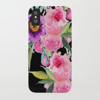 craftberrybush iPhone & iPod Cases featuring Floral white  by craftberrybush
