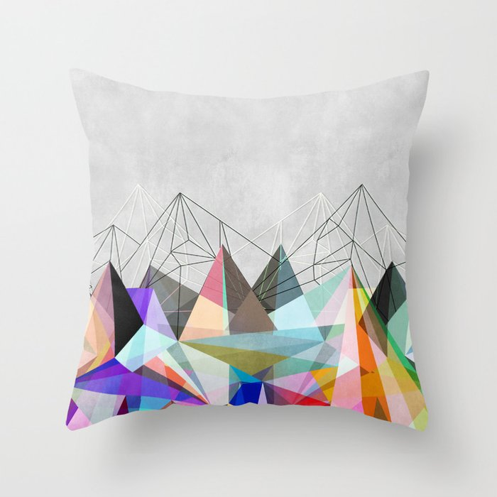 Colorflash 3 Throw Pillow by maboe