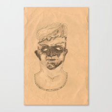 Dirty Face in orange Canvas Print