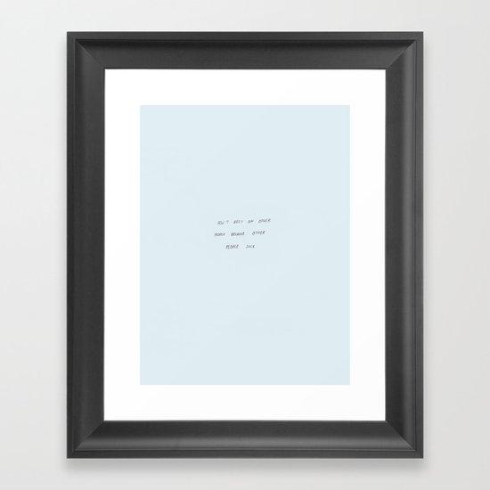 Other People Framed Art Print