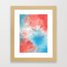 Red & Blue Galaxy Framed Art Print