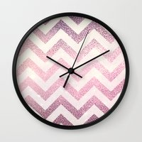 chevron Wall Clocks featuring CHEVRoN by Monika Strigel