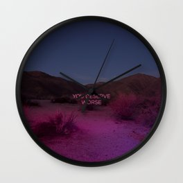 You Deserve Worse Wall Clock