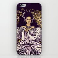 sarah paulson iPhone & iPod Skins featuring Sarah  by Karen Hallion Illustrations