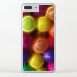 Fractal Balls Clear iPhone Case