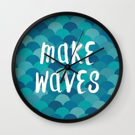 Mermaids Make Waves Wall Clock