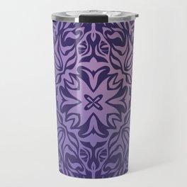 Polynesian style tattoo mandala purple Travel Mug