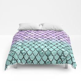 Mermaid Princess Glitter Scales #2 #shiny #pastel #decor #art #society6 Comforters
