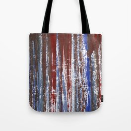 Red-blue abstraction Tote Bag