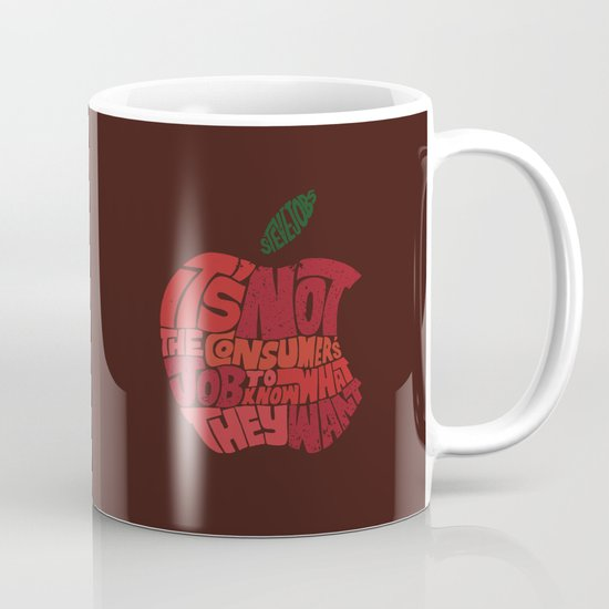 Steve Jobs on Consumers Mug