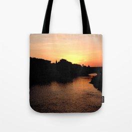 Sunset over the Ponte Vecchio Tote Bag