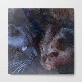 Night Cats Metal Print