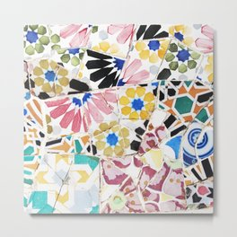 Wall Art Flowers Stone Detail Mosaic Collection Photography Metal Print