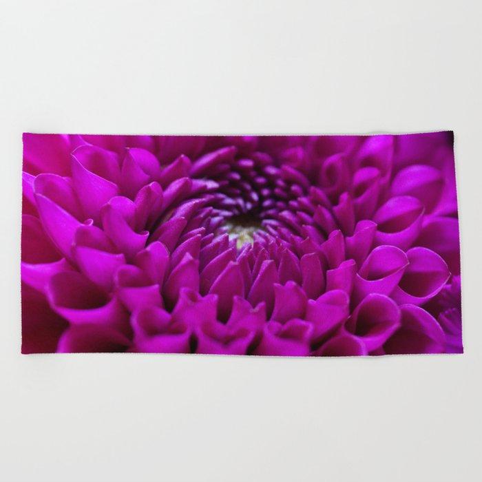 Pink Dahlia #1 #art #society6 Beach Towel
