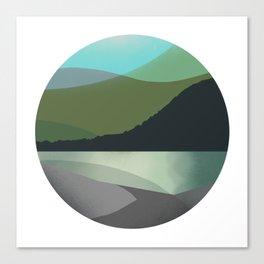Calm Marble Landscape Canvas Print
