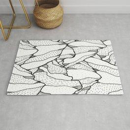 White pattern mountains Rug