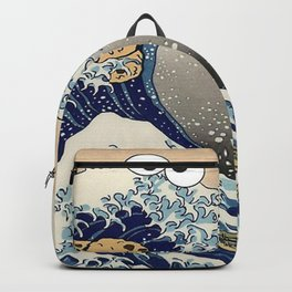 Great Wave off Kanagawa purple T-Shirt Backpack