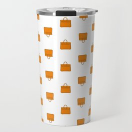 Orange Birkin Vibes High Fashion Purse Illustration Travel Mug