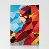dc comics Stationery Cards featuring DC Comics Flash by Eric Dufresne