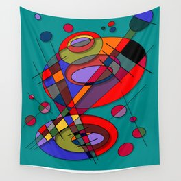 Abstract #50 Wall Tapestry