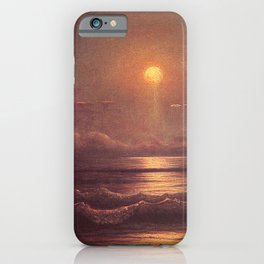 Sailing By Moonlight 1860 By Martin Johnson Heade | Reproduction iPhone Case