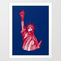Ornate Liberty Statue Art Print