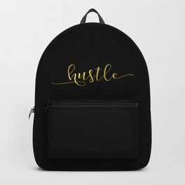 Hustle in gold Backpack