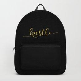 Hustle in gold Backpack
