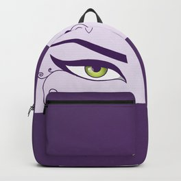 Oriental Dancer In Purple With Green Eyes Backpack