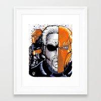 deathstroke Framed Art Prints featuring Deathstroke the Terminator by artbyCurt.