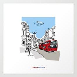 London Fleet Street Art Print