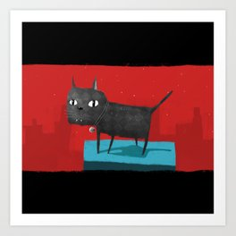 Mystical Cat Art Print